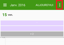calendrier sur Android 1/3